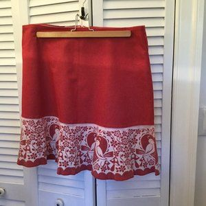 Made with Love by Hannah coral skirt with bird cou